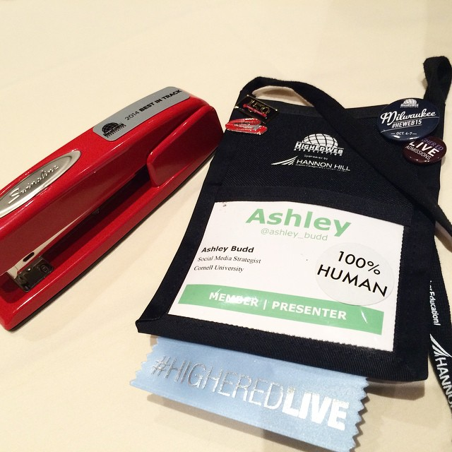 2014 HighEdWeb Red Stapler